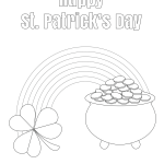 St Patrick's Day Pot of Gold Coloring Page