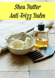 DIY shea butter anti frizz balm