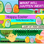 Kid's Happy Easter Bookmarks Printable