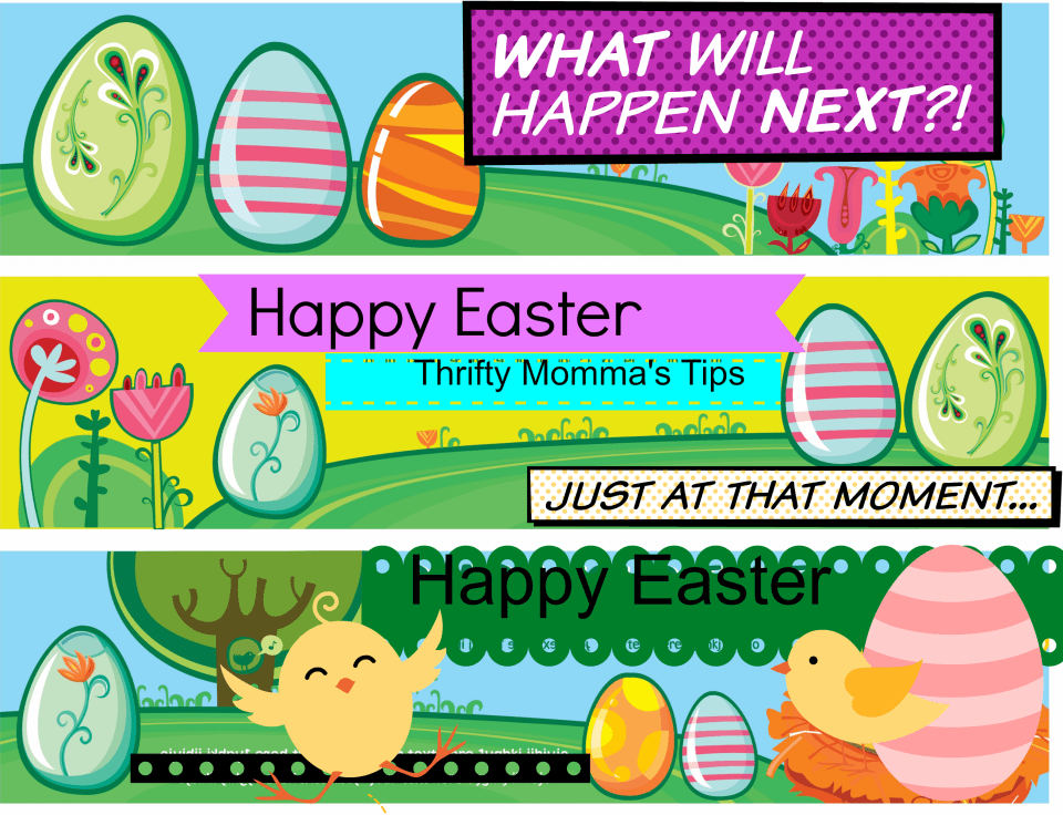 Kid's Happy Easter Bookmarks
