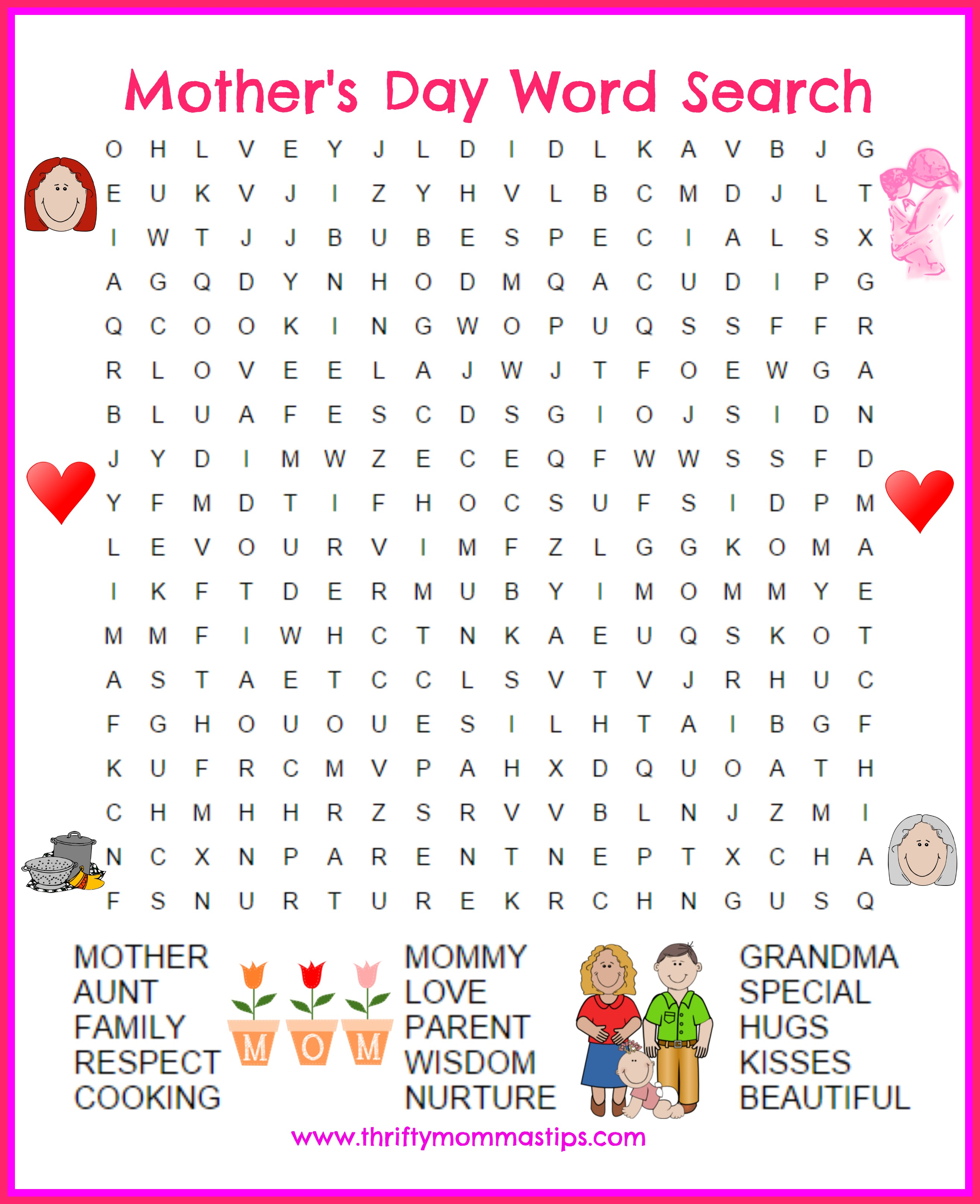 Mother S Day Word Search