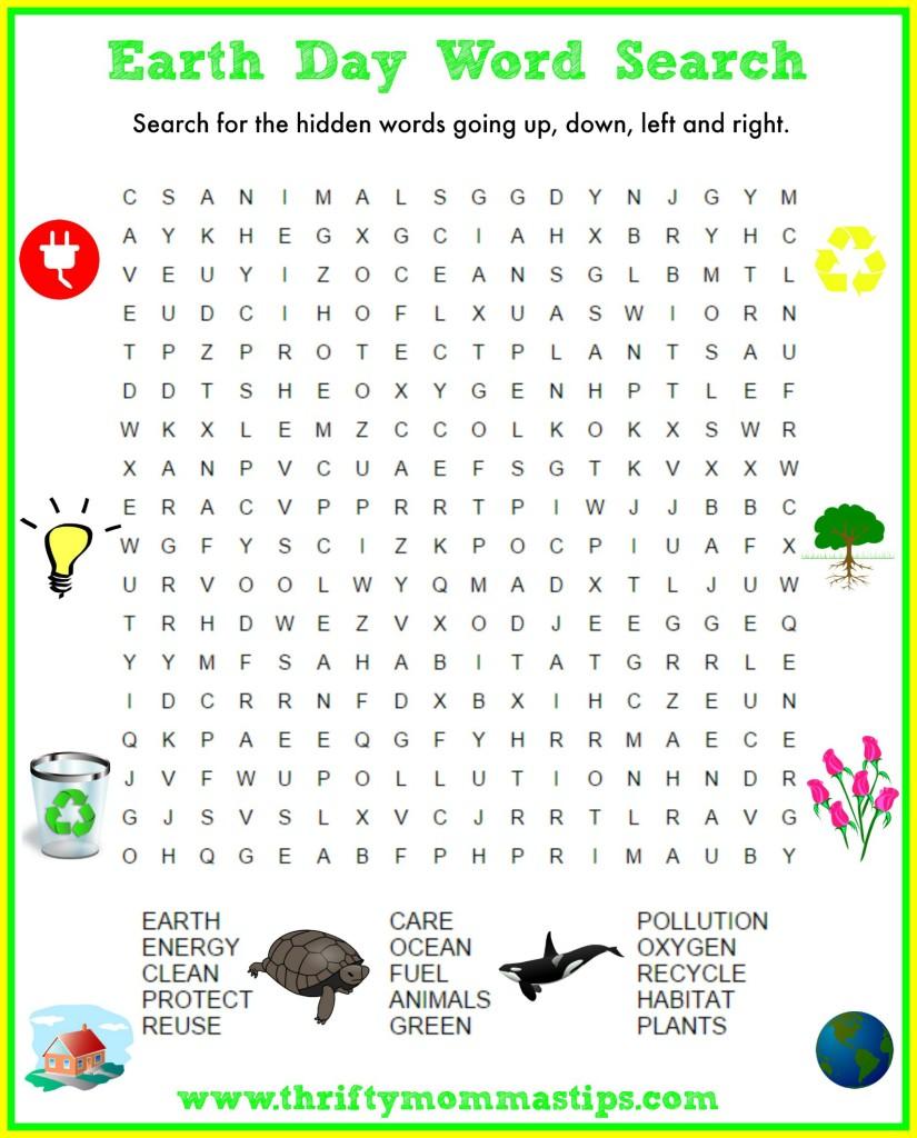 Paula earth day word search
