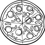 Pizza Lessons and a Pizza Coloring Page Printable