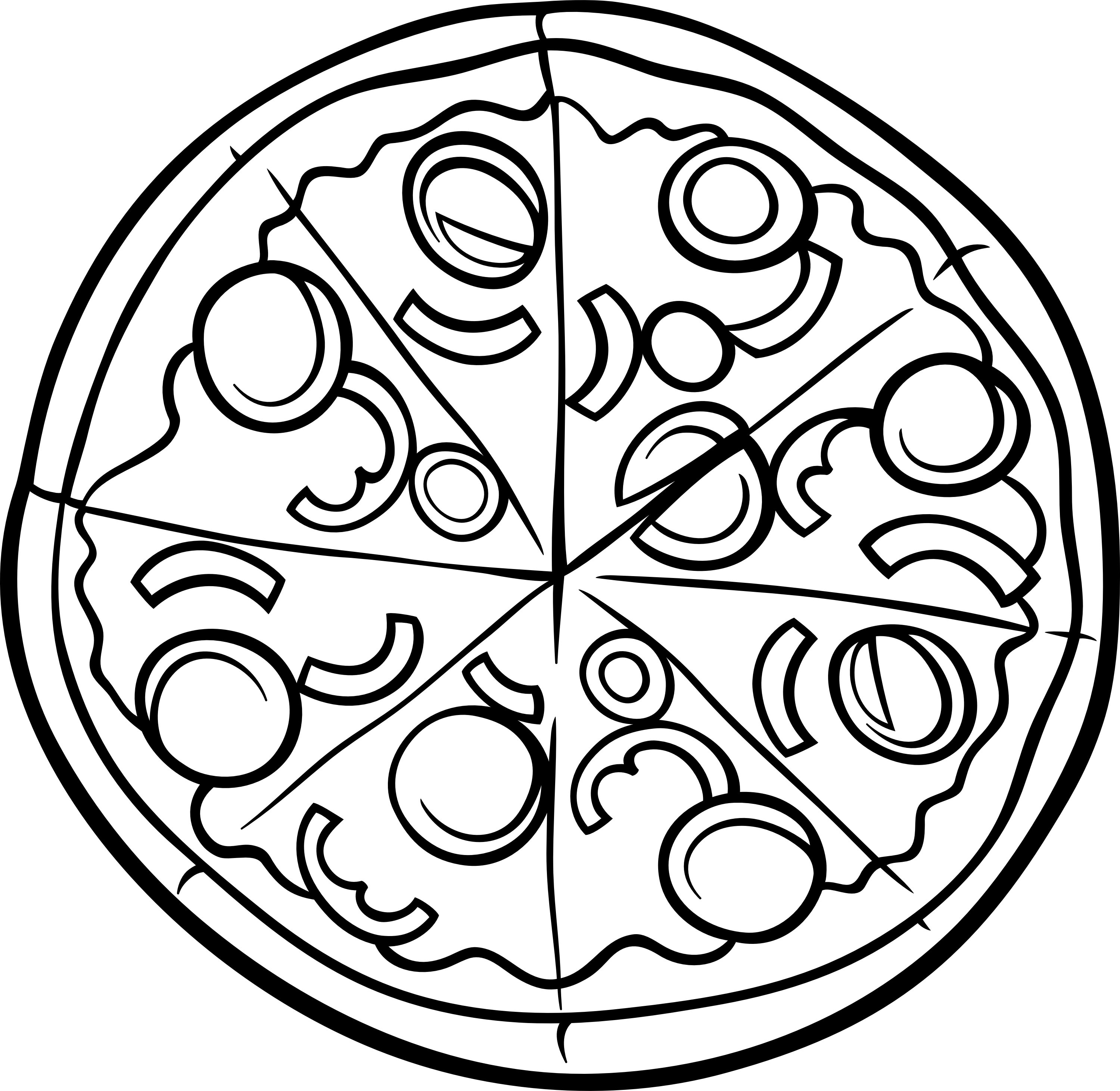 picture about Printable Pizza identified as pizza coloring web page printable