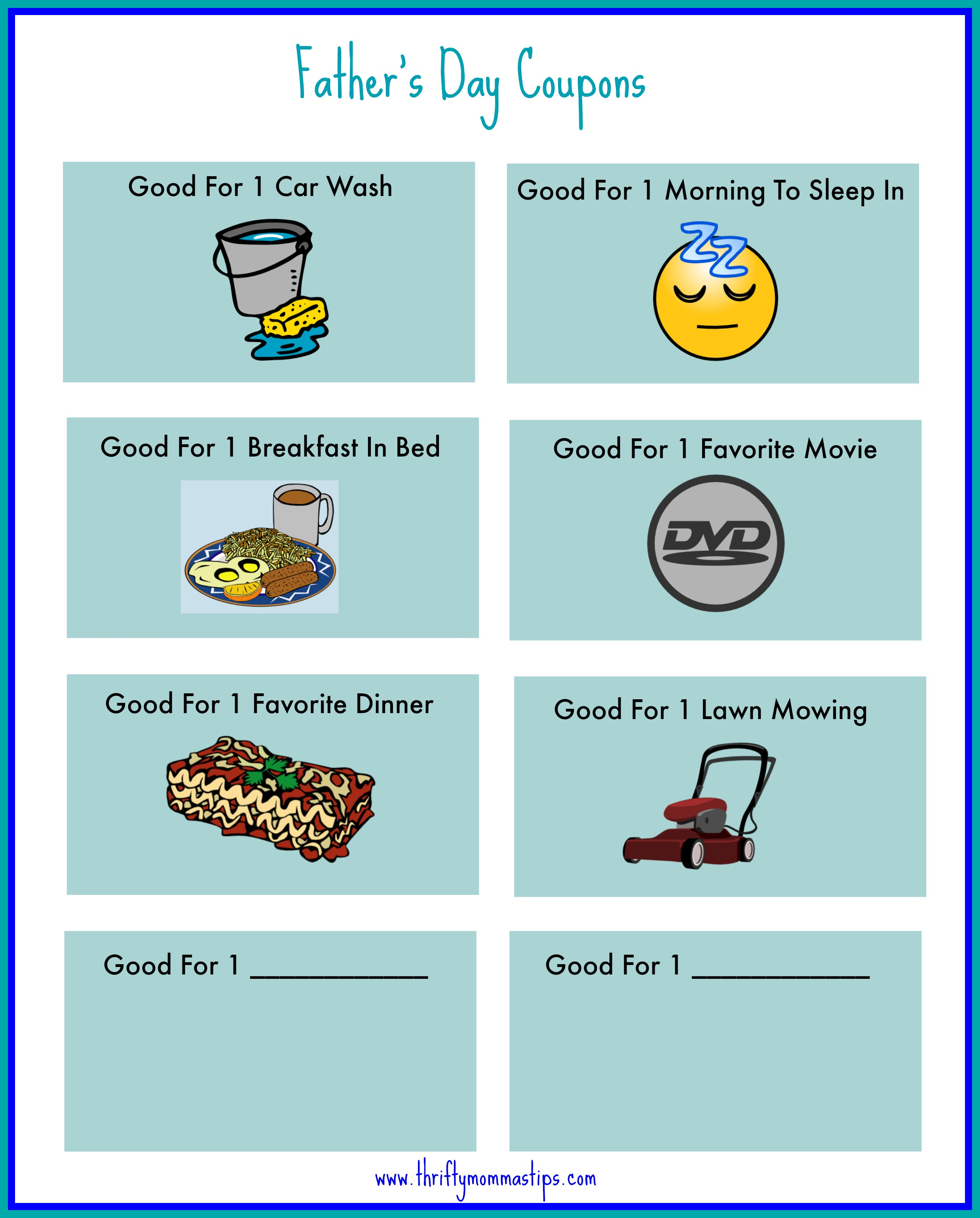 picture regarding Father's Day Coupons Printable named present Programs for Dads