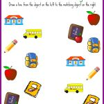 Back to School Matching Printables #BTS
