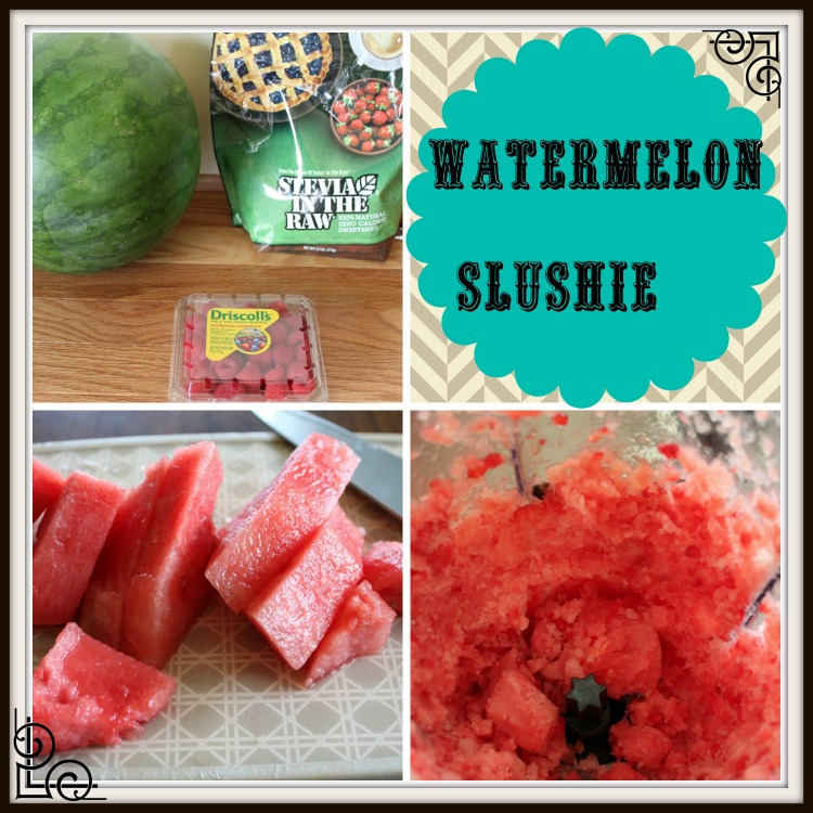 Watermelon Raspberry Slushie Recipe