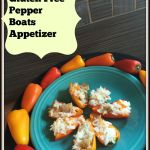 Gluten Free Pepper Boats Appetizer – Featuring Fiesta Dinnerware