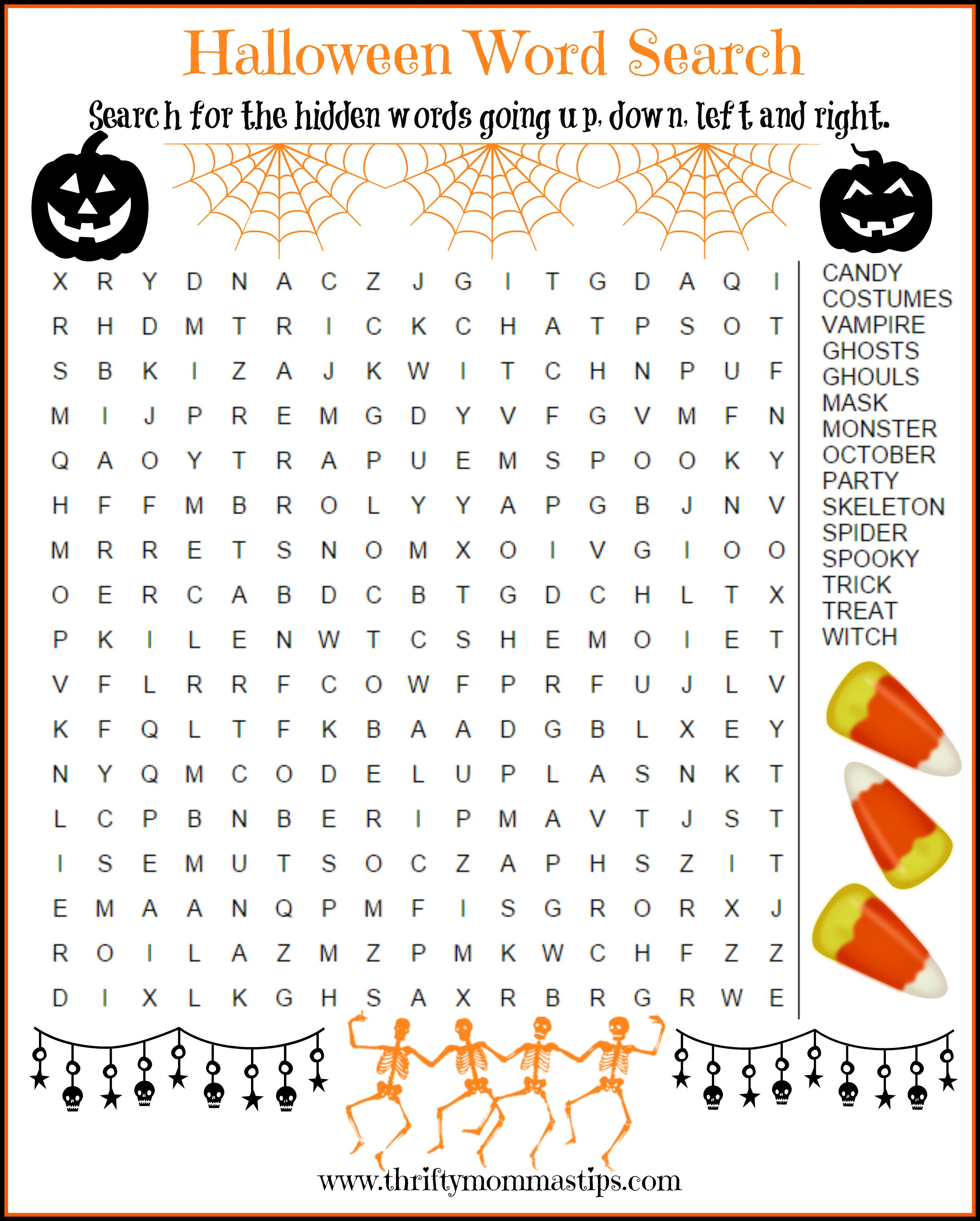 Halloween Printables Activity Package