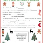 Free Christmas Fill Ins Printable