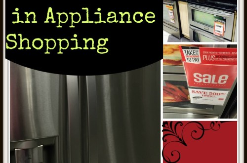 appliance shopping