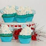 Delicious Disney Inspired Frozen Blue Cupcakes