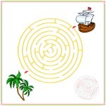 Maze Printable – Help The Pirate Ship Find The Palm Trees