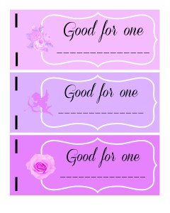 Valentine's Day printable coupon book