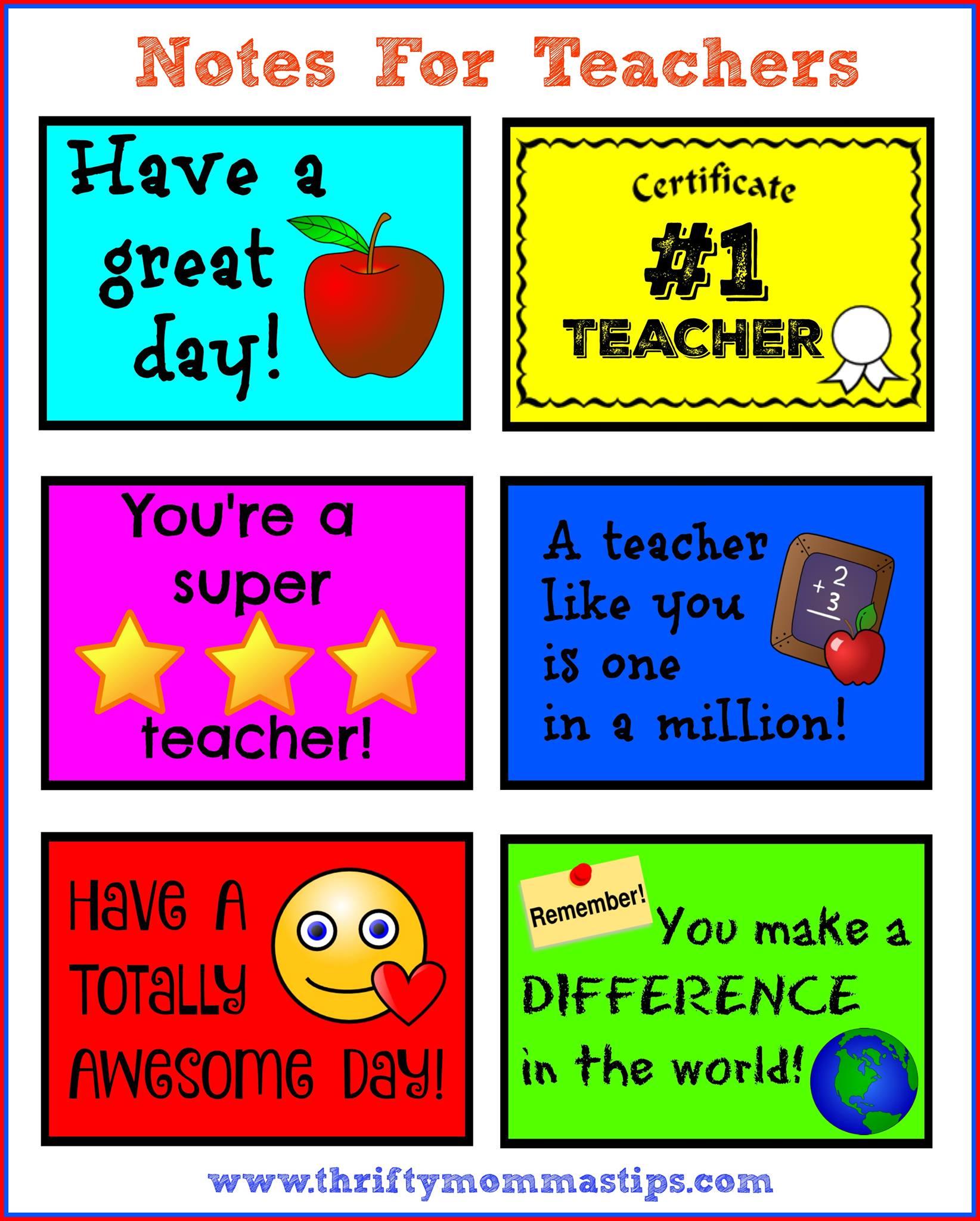 photo regarding Free Printable Teacher Appreciation Certificates identify Instructor Appreciation 7 days Totally free Printables - Thrifty Mommas Pointers