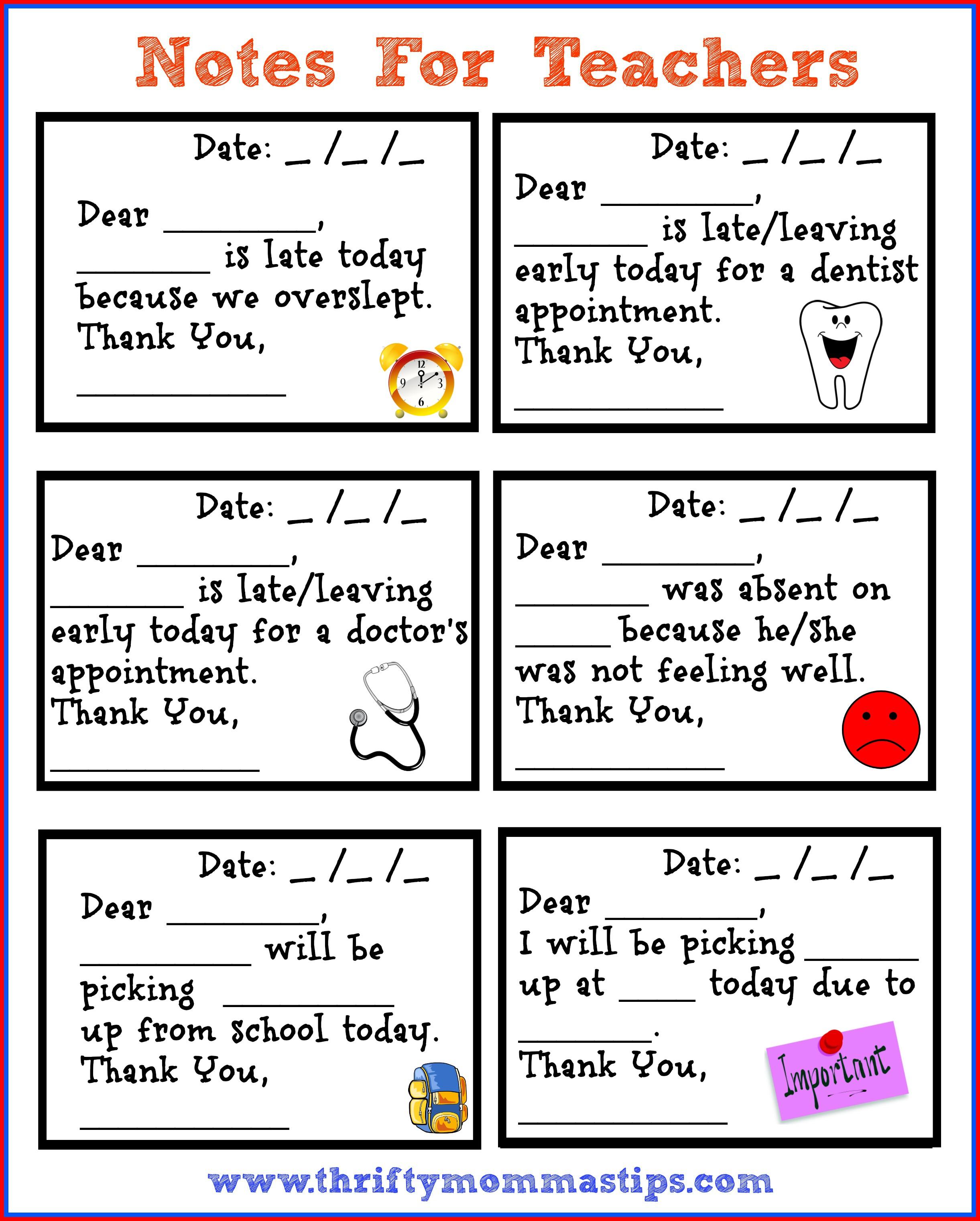 thank you notes printables
