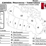 Canadian Provinces and Territories Worksheet Answers