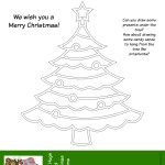 Printable Christmas Tree Activity for Kids