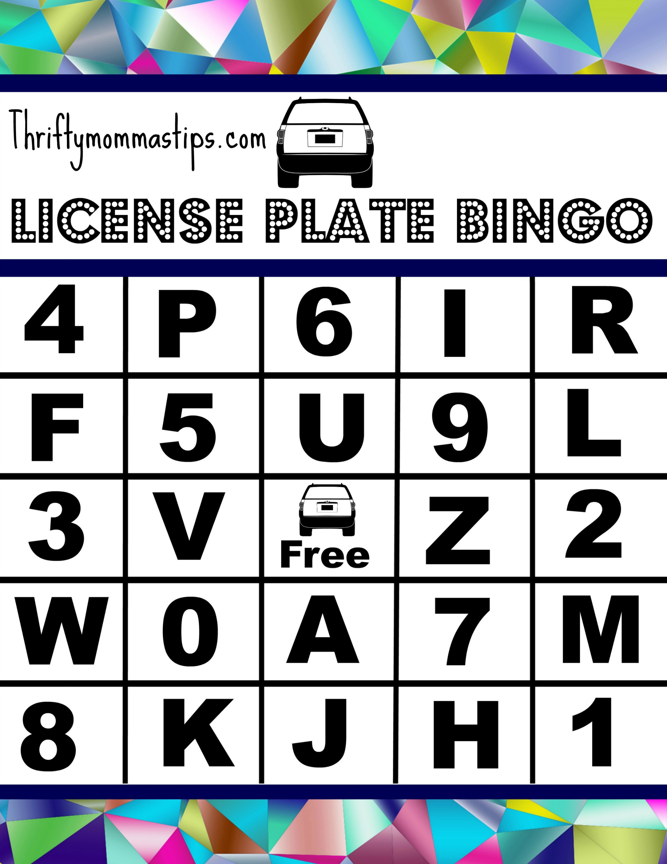 picture about License Plate Bingo Printable called 6 Secrets and techniques toward Gentle Household Highway Visits and Printable