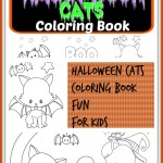 Cute Free Halloween Cats Colouring Book – 9 Page
