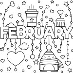February Colouring Page