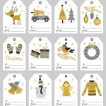 Silver and Gold Christmas Gift Tags