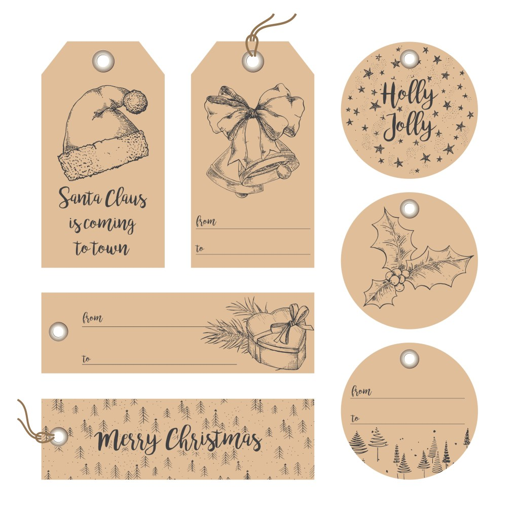 Pretty Parchment Paper Style Vintage Christmas Gift Tags - Thrifty ...