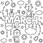 March Colouring Page To Enjoy!