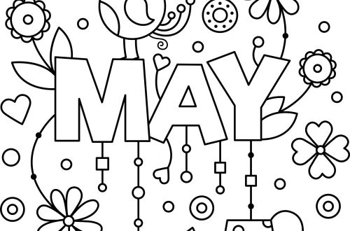 May_colouring_page
