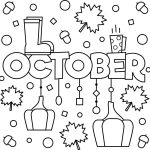 October Colouring Page