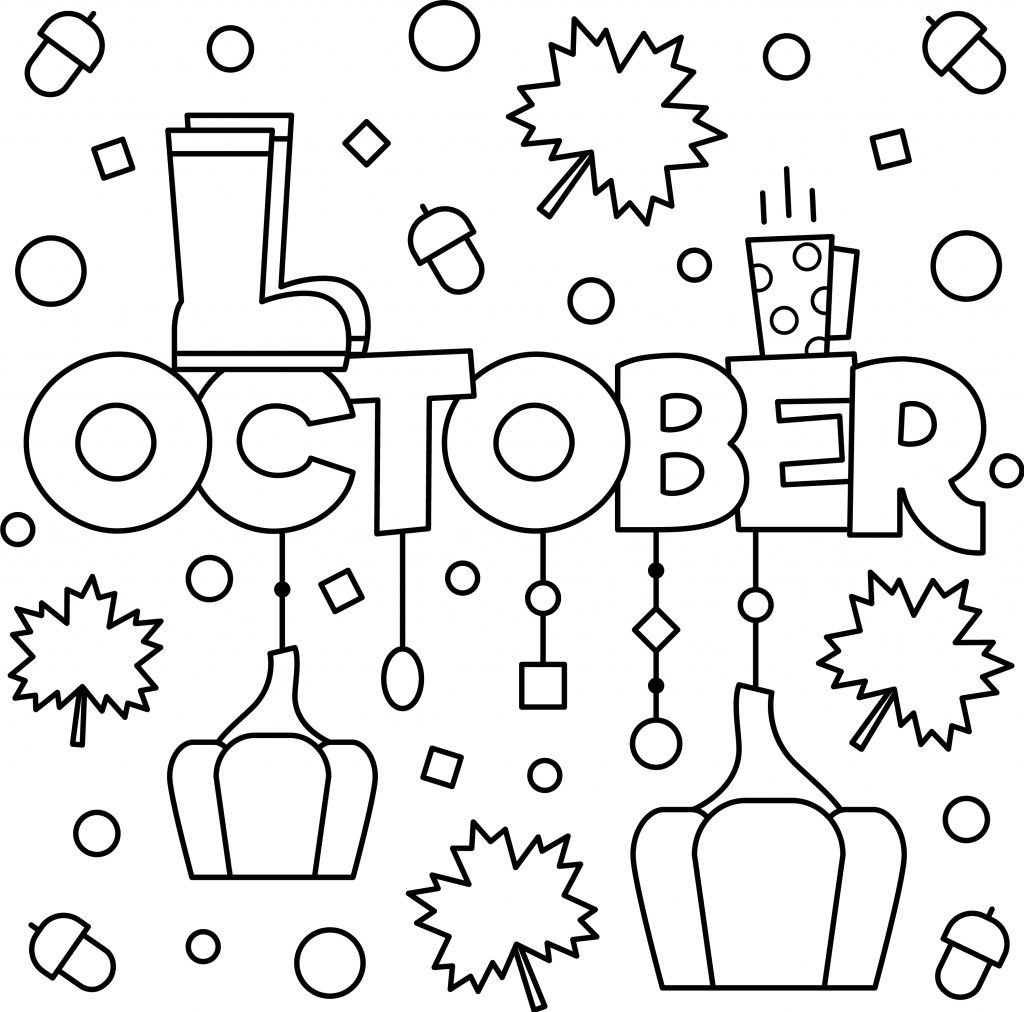Free October Colouring Page - Thrifty Mommas Tips