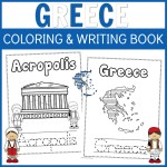 Greece Coloring and Writing Book For Your Family Trip