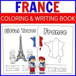 France Coloring and Writing Book