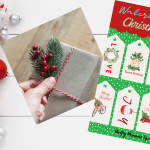 Festive Watercolour Christmas Gift Tags