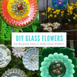 Glass Flowers Using Recycled Glass Plates To Make Beautiful Flower Art Thrifty Nw Mom