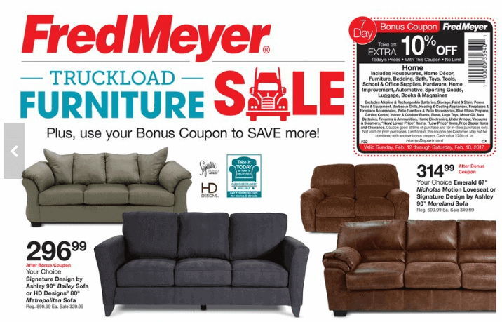 Fred Meyer Truckload Furniture Event Couches Under 300