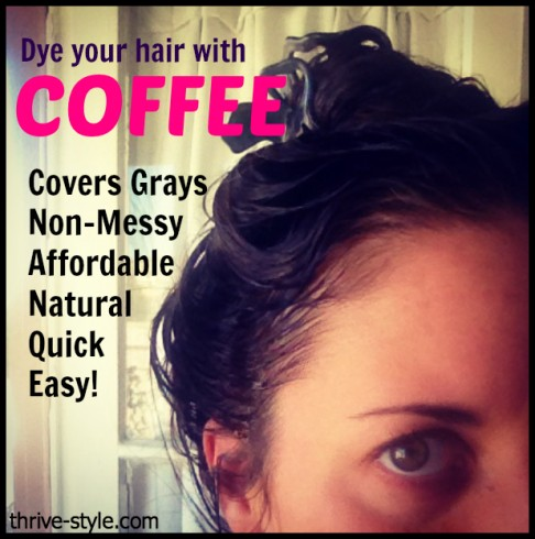 dye your hair with coffee
