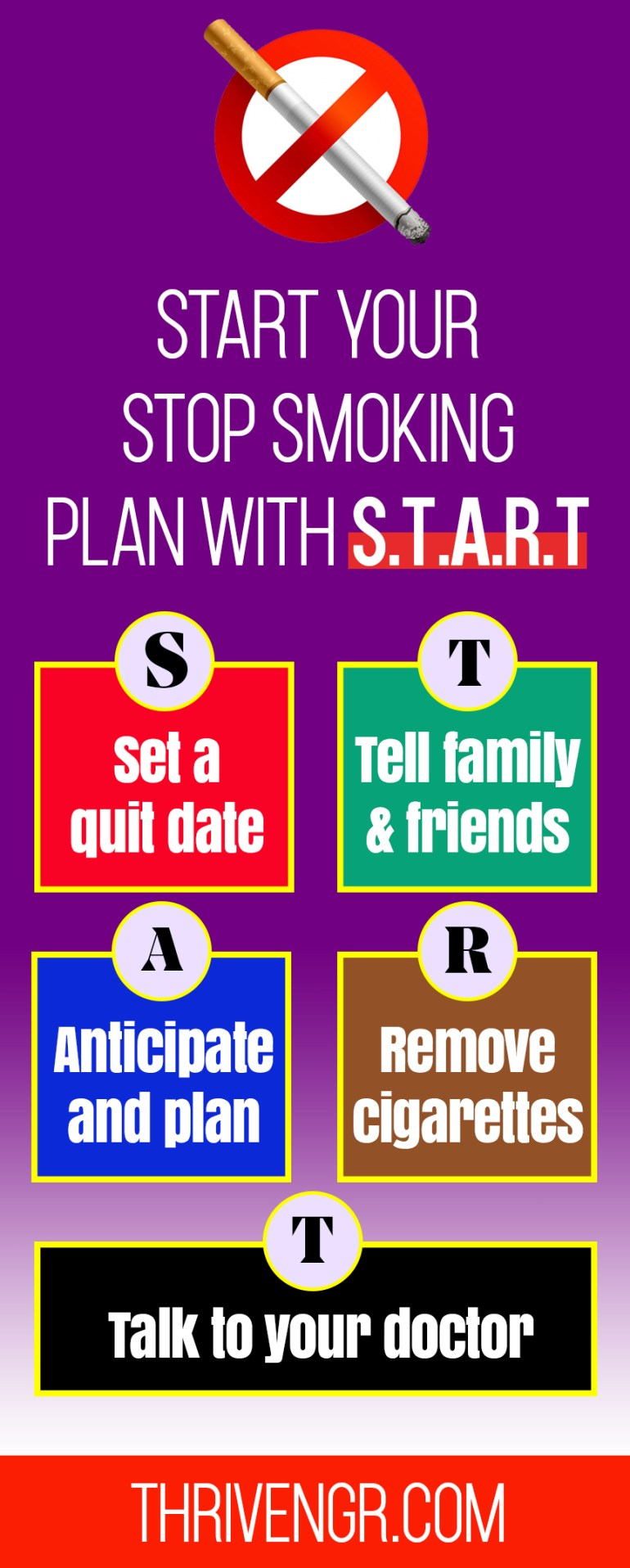 Start your stop smoking plan with S.T.A.R.T