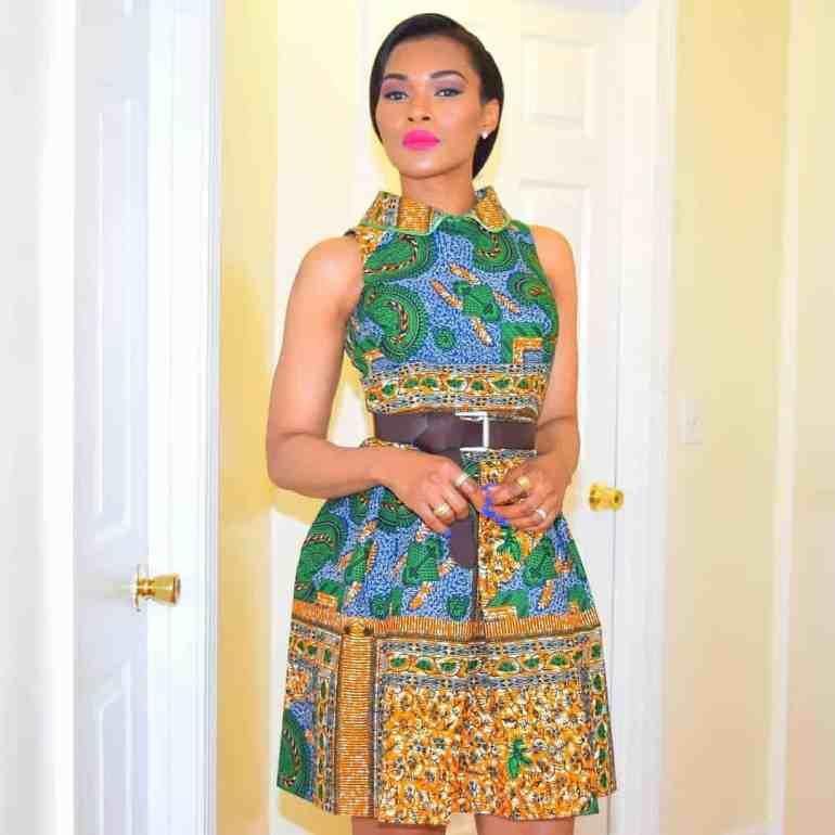 short ankara gown