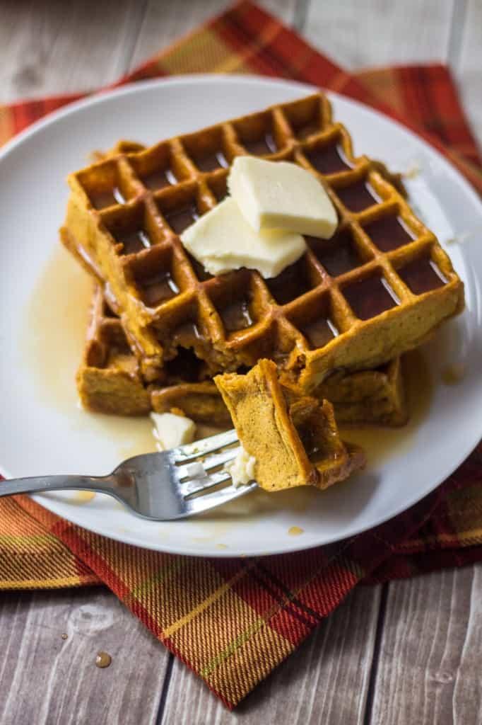 Pumpkin Pie Belgian Waffle Recipe