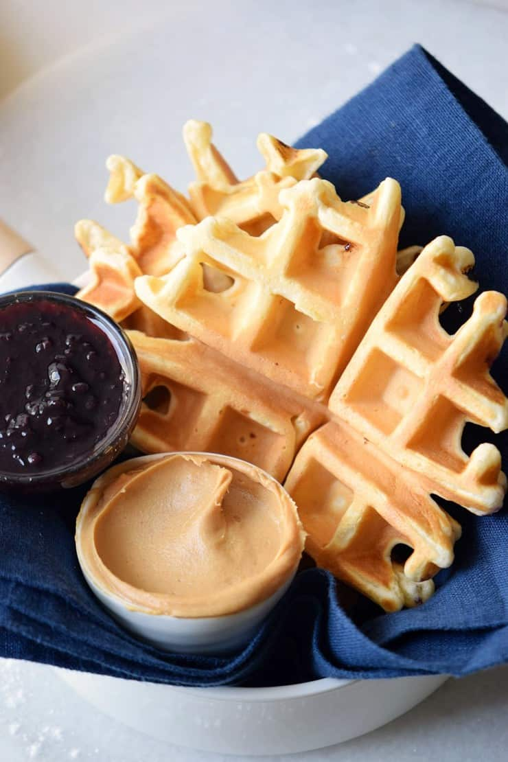 Peanut belgian waffle