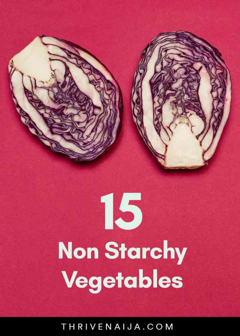 non starchy vegetables