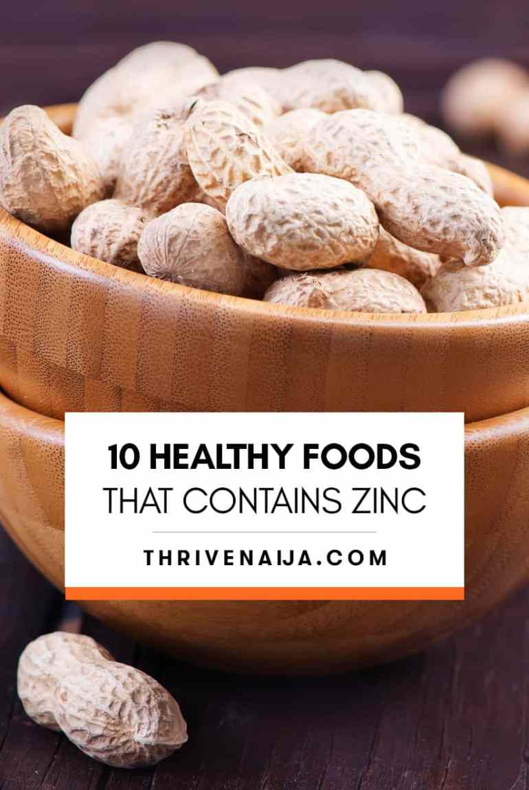 healthy foods that contain zinc