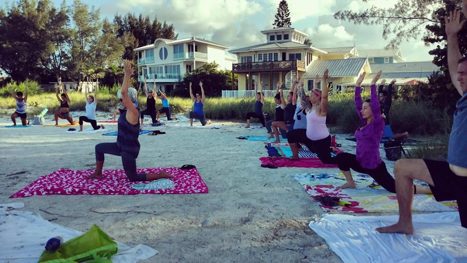 Thrive, Beach Yoga, Anna Maria Island