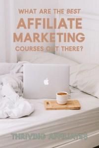 Are you looking for the best affiliate marketing course? Well, here are some to choose from based on what best fits your learning style and goals! #thrivingaffiliates #affiliatemarketing