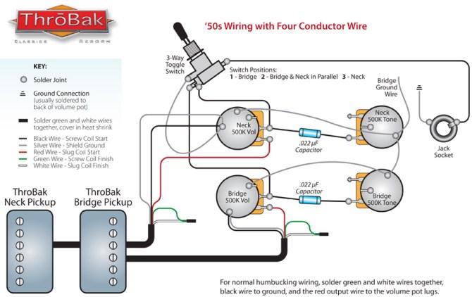 throbak 50's 4 conductor wiring  throbak