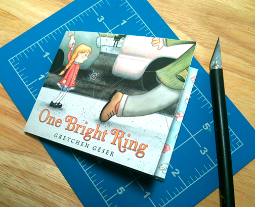 Little homemade book of ONE BRIGHT RING