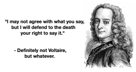 voltaire not quote