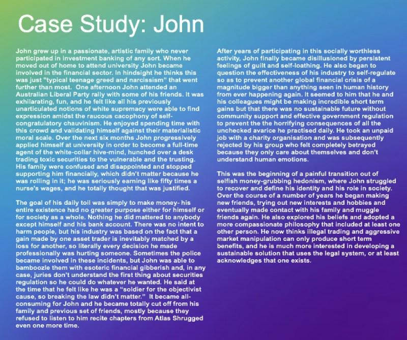 case study john