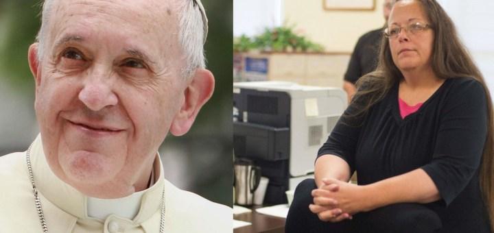 throwcase pope francis kim davis